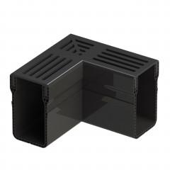 Aquadrain Black Grating Corner