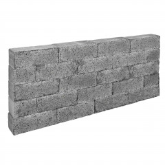 Stapelblok Beton Splitted Rock Grey/Black