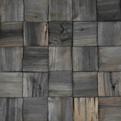 WoodWall Charcoal Square Broken Face
