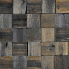 WoodWall Charcoal Square Plain