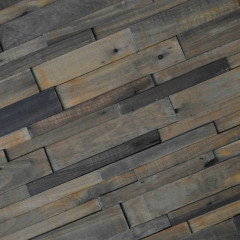 WoodWall Charcoal Strip Plain