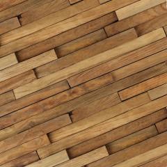 WoodWall Teak Strip Rustic